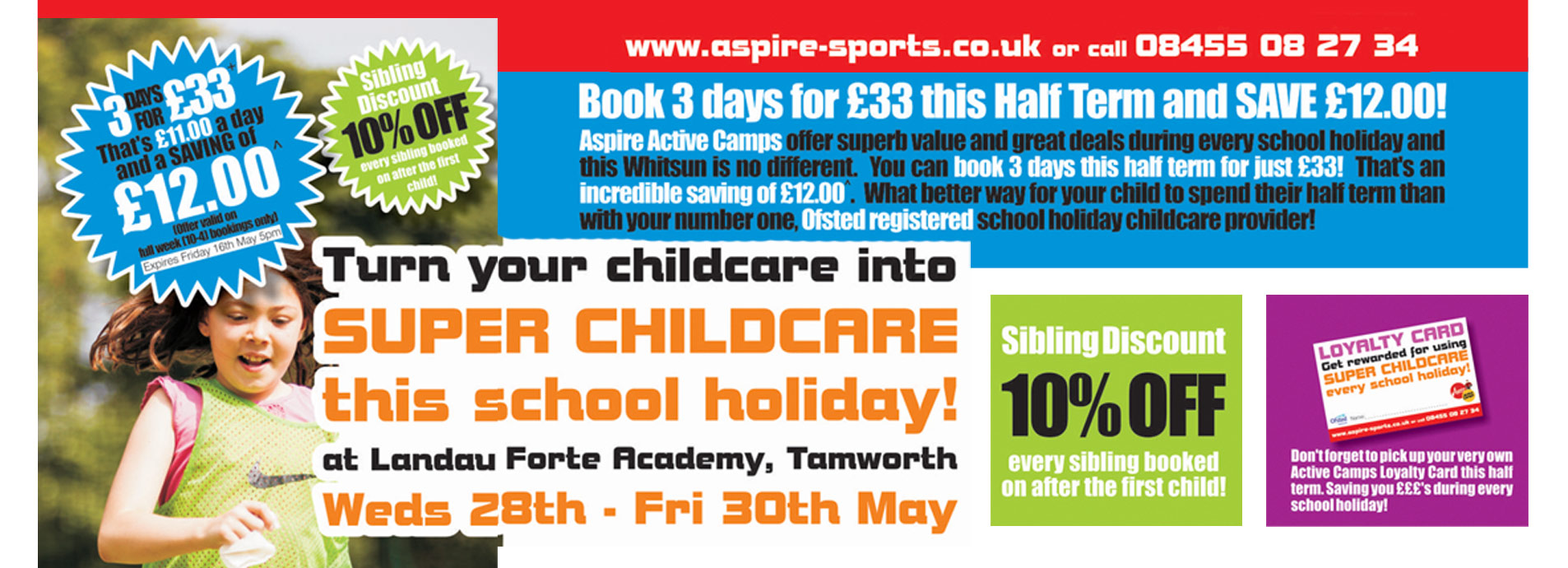 May Half Term Childcare Offer: Aspire Active Camps