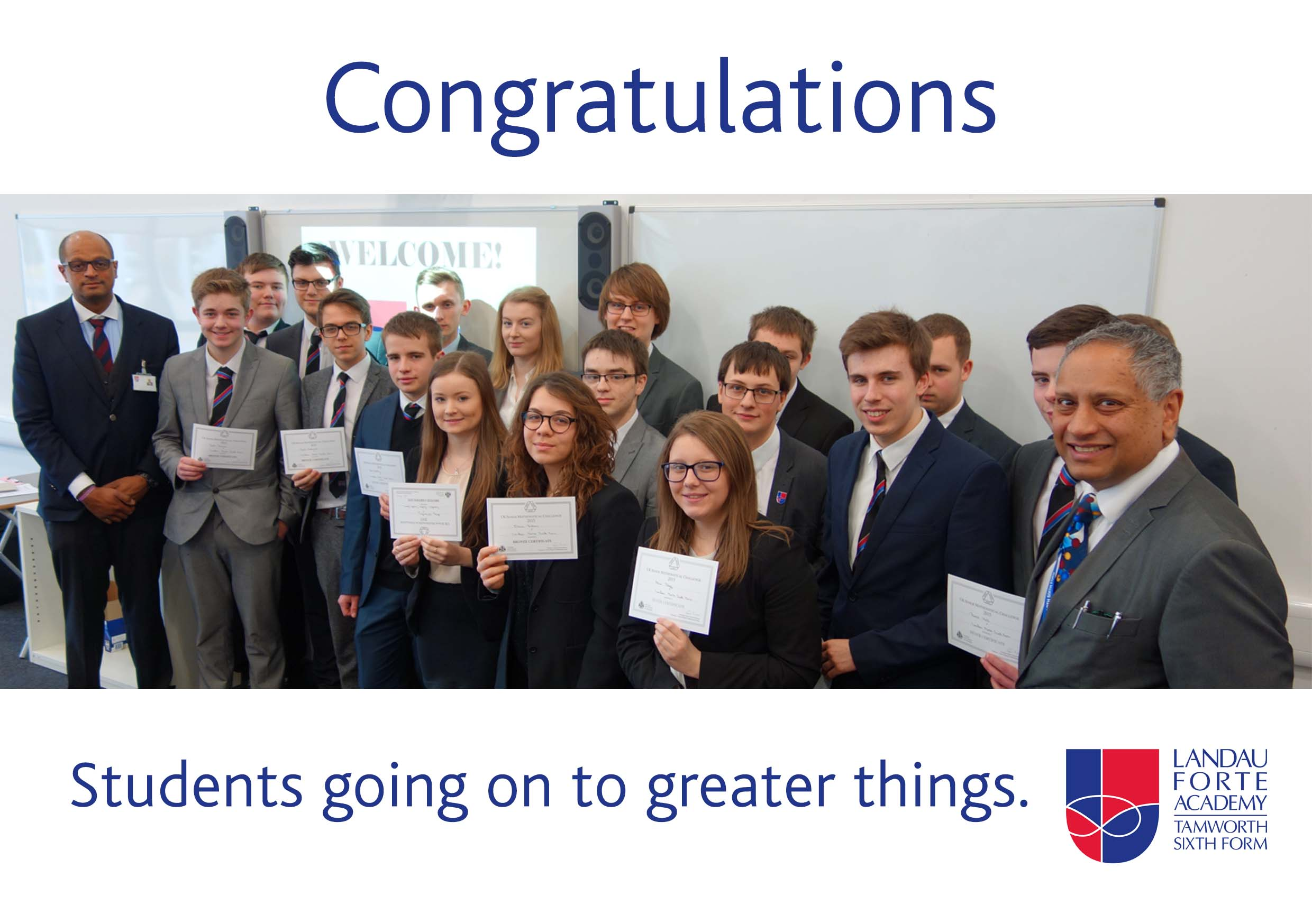 Featured - Congratulations to Maths Challenge Students