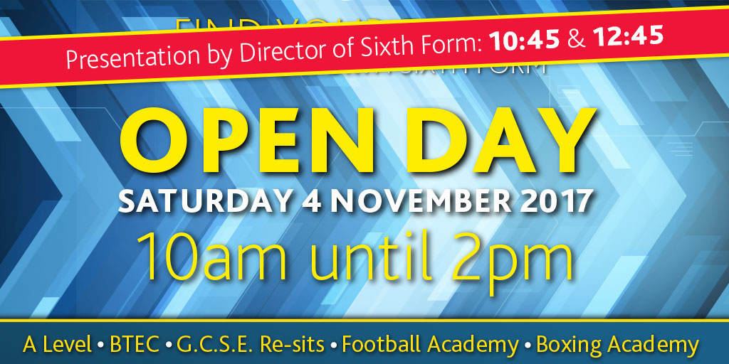 Our next Open Day is on Saturday, 4 November