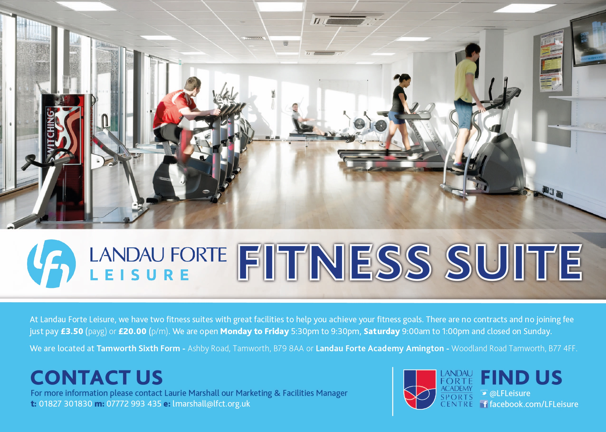 Fitness suite pool hire tamworth sixth form